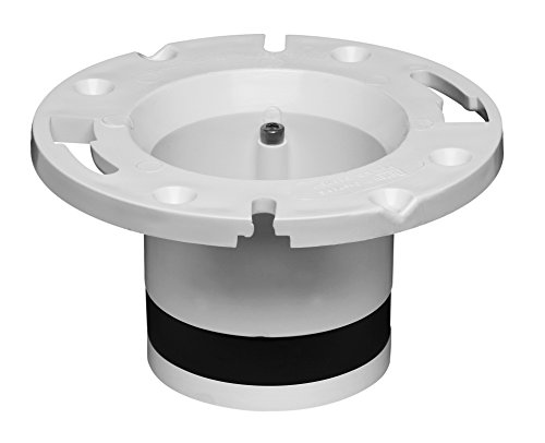 Oatey 43539 PVC Cast Iron Flange Replacement, 4-Inch (Cast Iron Closet Flange compare prices)