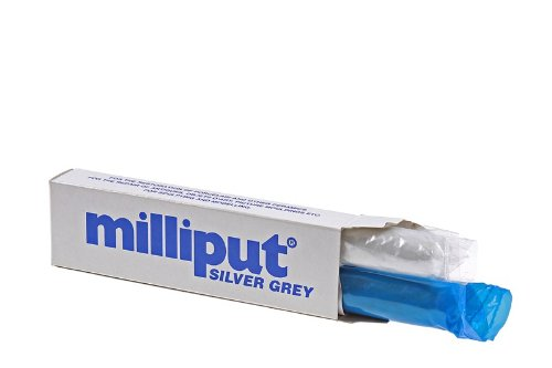 Milliput 2-Part Self Hardening Putty, Silver/Grey, Medium - 1