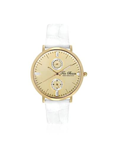 Ted Baker Women's TE2105 Smart Gold/White Leather Watch