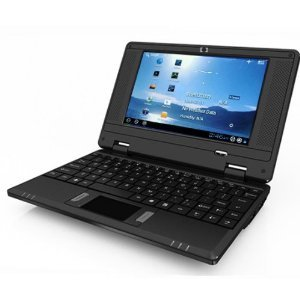 """BLACK NETBOOK Built-in Camera 7"""" MINI LAPTOP Notebook Netbook PC Google Android 2.2 Computer Flash WiFi Internet 3 USB Ports YouTube Facebook and TONS of Free Android Apps & Games 4gb HD 256mb Ram"""