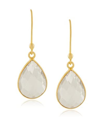 Adoriana 12 Cttw Clear Quartz Pear Shape Earrings