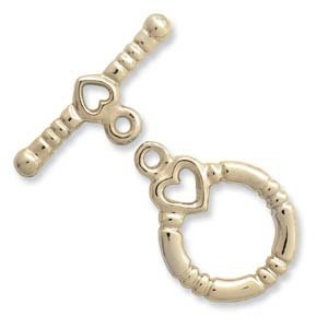 Gold Plate Toggle Clasp (3 Sets) 36204