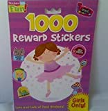 1000 Reward Stickers for GIRLS ONLY PLUS Activity Sticker Book - Motivation stickers