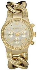 MICHAEL Michael Kors #MK3150 Women's Gold Tone Chain Bracelet Glitz Chronograph Watch