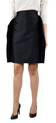 Dolce & Gabbana Women'S Knee Length Silk Skirt Black