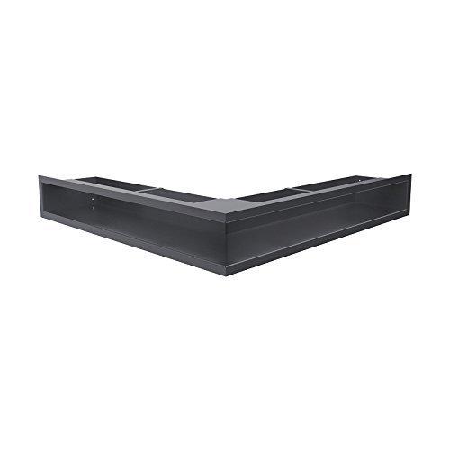 Kratki Lüftungsgitter Kamingitter Eck-Luft graphit 560 mm x 560 mm x 90mm jetzt bestellen