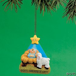 #!Cheap BABY JESUS - GOD'S Greatest GIFT CHRISTMAS ORNAMENT/HOLIDAY TREE Decoration/GIFT