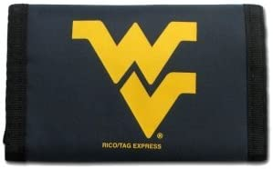 West Virginia Mountaineers WVU NCAA Nylon Trifold Wallet by Caseys