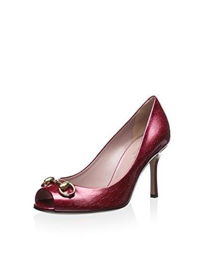 Gucci Women's Peep Toe Pump  [Rasberry Candy]