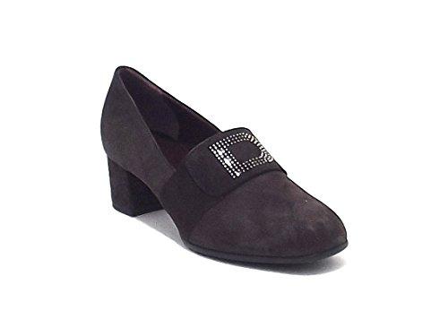 Donna Serena scarpa donna, 4531, scarpa accollata in camoscio, colore marrone
