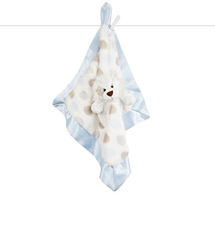 "Little Giraffe Little L Blanky, 18""x18"", Blue"