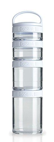 Blenderbottle Gostak Twist N' Lock Storage Jars, 4-Piece Starter Pak, White