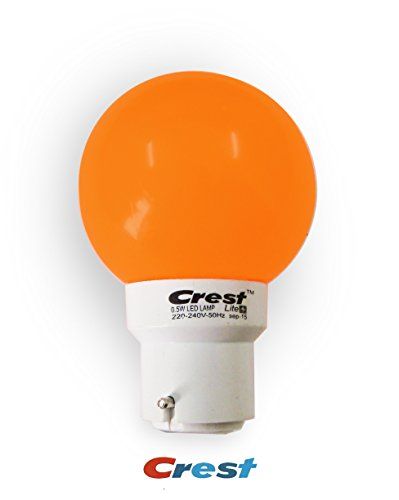 Crest 0.5W Orange LED Bulbs (Pack Of 3)
