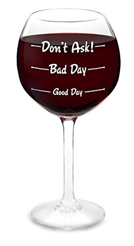 BigMouth Inc How Was Your Day Copa de Vino