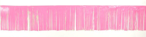 Creative Converting Decorative Plastic Fringe Banner, 24-Inch, Pink