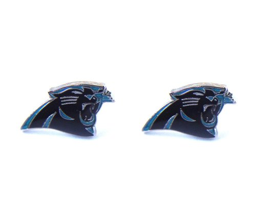 Nfl Carolina Panthers Post Stud Logo Earring Set