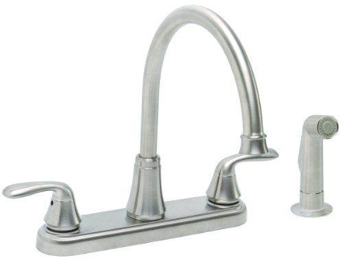 Premier Faucet 126968 Waterfront Lead Free Two-Handle Kitchen Faucet with Spray, PVD Brushed Nickel