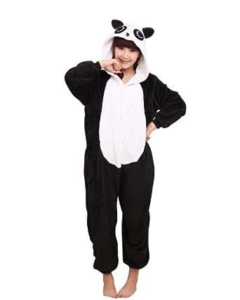 Samgu-Panda animal Pyjama Cospaly Party Fleece Costume Deguisement Adulte Unisexe (M(hauteur:160-170cm))