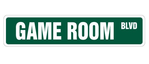 game room street sign new signs gameroom gamer gift games