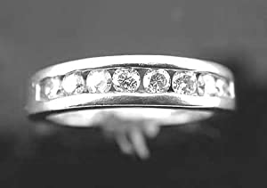 1 Ct Wedding Band Ring Round Cut Diamond 14 Karat White Gold !! Jewerly at Manufacturer's Price !!