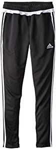 adidas Performance Youth Tiro 15 Training Pant, X-Small, Black/White/Black