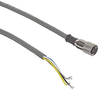 Banner MQVR3S-530 EZ Light Indicator Quick Disconnect Cable, AC Models, 5-Pins, Straight, 9 meters Cable Length