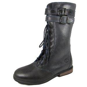 Timberland Girls Brixham Tall Leather Boot - Dark Grey