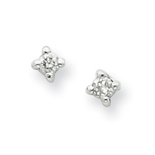 Sterling Silver White Ice .06ct. Diamond Earrings. Comes in a lovely Gift Box