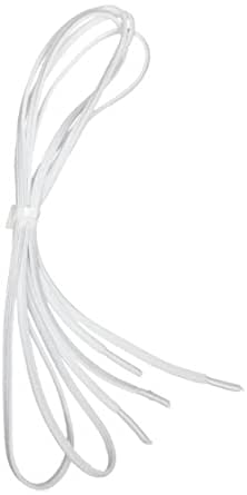 """Perma-Ty 738130030 30"""" White Elastic Shoelaces (Pack of 3 Pairs)"""