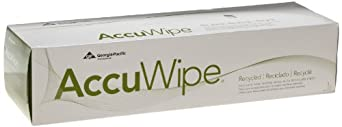 "AccuWipe 29756/03 White Recycled 1-Ply Delicate Task Wiper, 16.7"" Length x 15"" Width, 140-Count Pack (20 Packs of 140)"