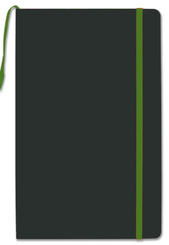 bookfactory-green-journal-writing-notebook-blank-diary-192-pages-525-x-827-hardbound-banded-bookmark