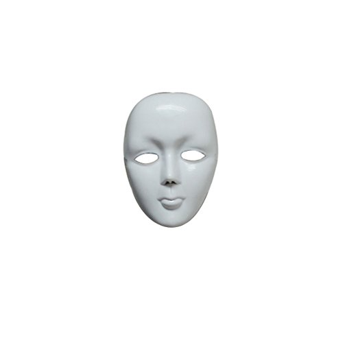 Scary White Face Halloween Masquerade DIY Mime Mask Ball Party Costume Masks