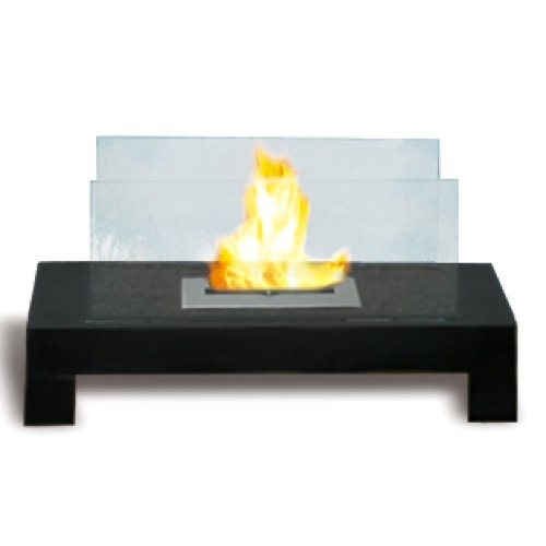 Glass and Black Outdoor Coated Metal Indoor Safe Eco Friendly Fireplace Gramercy picture B00G9XYZWG.jpg