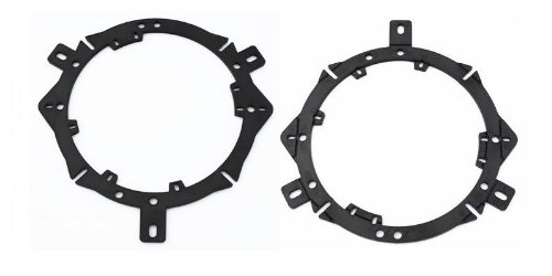 "6.5"" inch & 6.75"" inch Aftermarket Front Door Factory Stock Speaker Adapter Pair Chrysler (300, 300C, 300M, Aspen, Cirrus, Concorde, LHS, PT Cruiser, Sebring) Dodge (Avenger, Colt, Dakota, Durango, Intrepid, Neon, Ram Pickup, Stealth, Stratus) Eagle (Summit Wagon, Talon) Jeep (Grand Cherokee, Leberty, Wrangler, Unlimited) Plymouth (Breeze, Colt, Laser, Neon)"