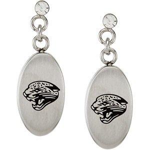 Stainless Steel Jacksonville Jaguars Logo Dangle Earrings PAIR 27.60MM X 10.00MM