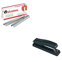 KITUNV43118UNV79000 - Value Kit - Universal Standard Chisel Point 210 Strip Count Staples (UNV79000) and Universal Economy Full Strip Stapler (UNV43118)