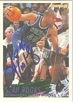 Sean Rooks Minnesota Timberwolves 1994 Fleer Autographed Hand Signed Trading Card -... by Hall+of+Fame+Memorabilia
