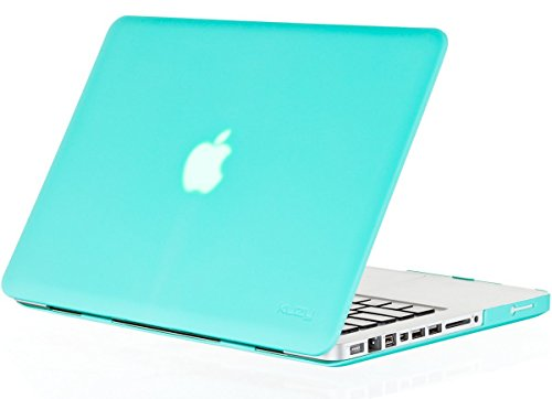 Kuzy - Teal / Turquoise Hot Blue 13inch Rubberized Hard Case Satin Cover for NEW Macbook PRO 13.3 (A1278 with or without Thunderbolt) Aluminum Unibody