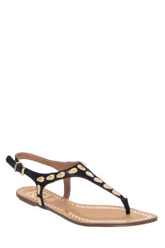 DV by Dolce Vita Vanessa Mooney Avina Embellished Ankle Strap Thong Sandal