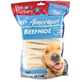 PET FACTORY 78107 Usa 5-Inch Chip Rolls Chews for Dogs, 22-Pack