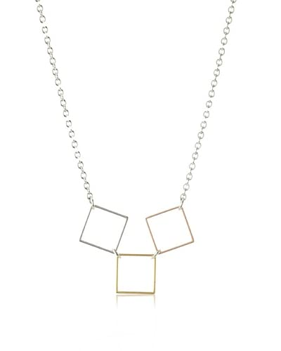 Nissa Jewelry Triple Squares Necklace