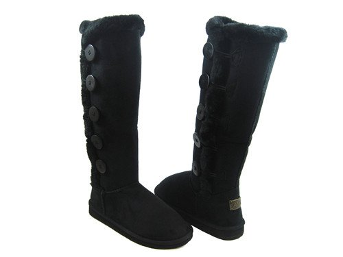 Five Button Over the Knee Snow Boots