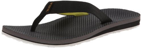 Teva Men'S Original Flip M Sandal,Black/Yellow,11 M Us front-1034612