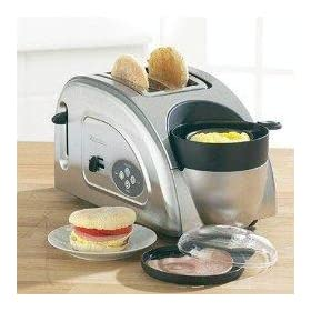 West Bend 78822 Egg and Muffin Toaster Stainless Steel