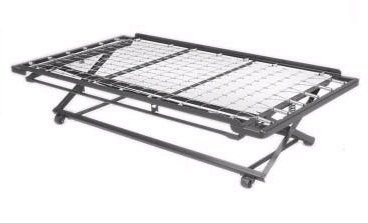 Twin Rollout Metal Bed Frame with Mattress Package
