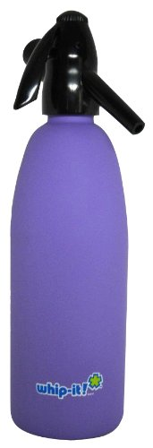 Whip-It 1-Liter Soda Siphon, Rubber Coated, Purple (Soda Siphon Cartridge Holder compare prices)
