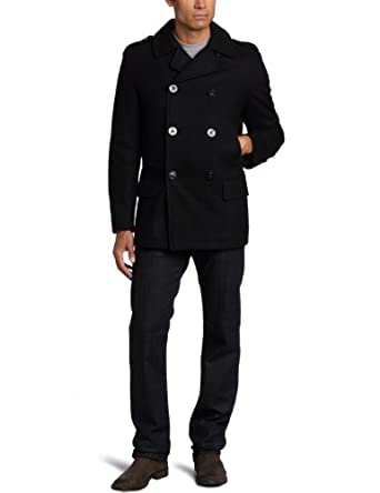 Nautica Men's Tall Peacoat , Black, 4X