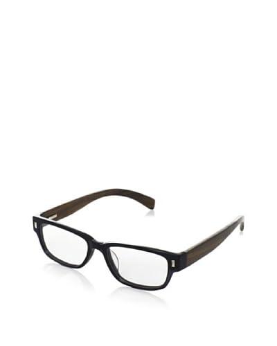 Ivory + Mason Women's Olympic Eyeglasses, Black/Walnut