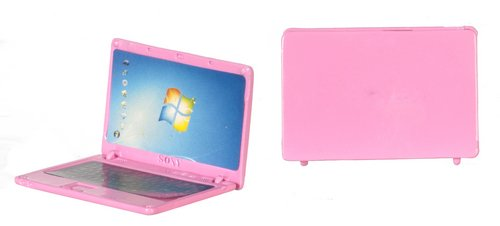 Dollhouse Rose Metal Laptop Computer