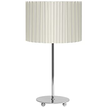 Aimbry Anka Metal Table Lamp Complete with Cream Hard Pleat Shade
